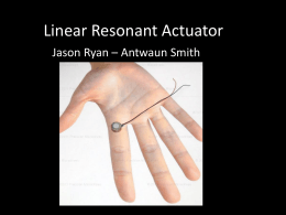 Linear Resonant Actuator Revised