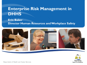 Implementing a Risk Management Framework at the Department of