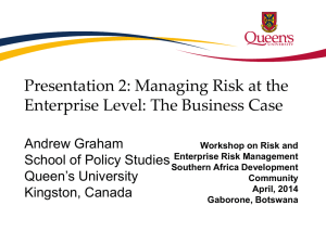 The Business Case of Integrated Risk Management