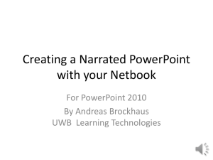 Creating a Narrated PowerPoint