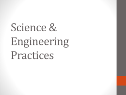 Science and Engineering Practices Presentation