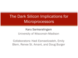 Dark Silicon and the End of Multicore Scaling