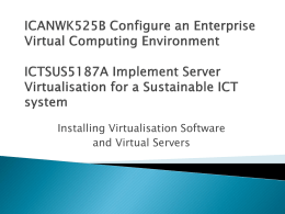 Installation of Virtual Servers