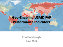 Geo-Enabling USAID F Indicators - Online Geospatial Education