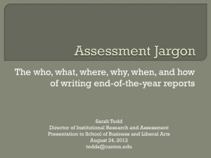 Assessment Jargon