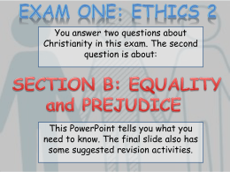 Equality and Prejudice powerpoint