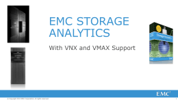 EMC_Storage_Analytics_Technical_Overview