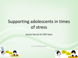Presentation slides: Supporting Adolescents in Times of Stress