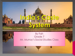 India PPT caste system