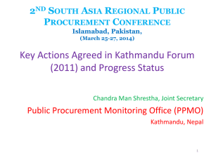 2nd South Asia Regional Public Procurement