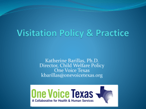 Visitation Policy & Practice in Texas
