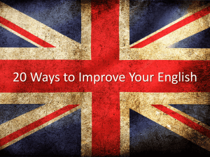 Twenty Ways to Improve Your English