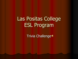 ESL Program - Las Positas College