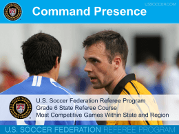 Grade 6 - Command Presence - Connecticut State Referee Program
