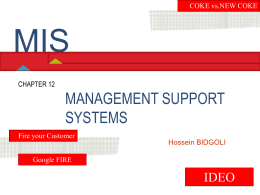 Chapter 12 Management Support Systems