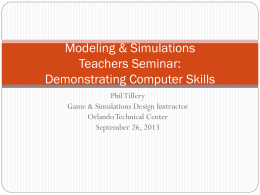 Demo Computer Skills - National Center for Simulation