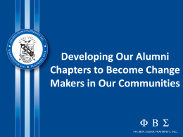 Alumni Chapters - Change Makers Presentation