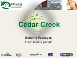 Cedar Creek Powerpoint Presentation