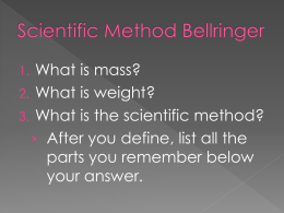 Scientific Method and Variables.ppt