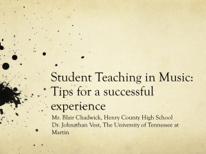 Student Teaching in Music PowerPoint Presentation
