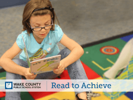 3rd Grade Parents: Read to Achieve Information