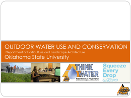 Outdoor Water Use and Conservation Program