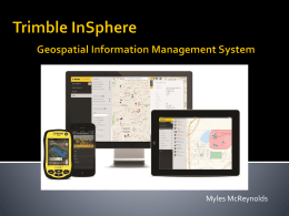 Trimble InSphere Geospatial Information