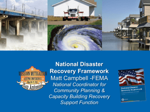 National Disaster Recovery Framework
