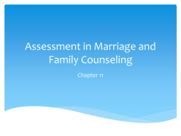 Assessment in Marriage and Family Counseling