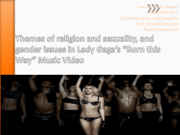 Lady Gaga - Communication and Sexualities