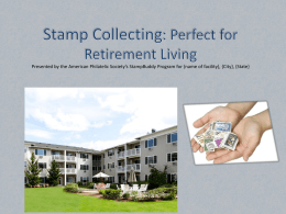 Stamp Collecting Presentation for Senior Living Community