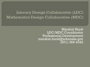 Literacy Design Collaborative - Arkansas Department of Education