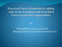 Local Cheese Promotion Ltd Power Point