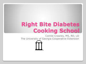 Right Bite Diabetes Cooking School