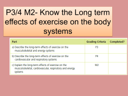 Long term effects of exercise on Musculoskeletal system
