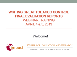 2 - Tobacco Control Evaluation Center