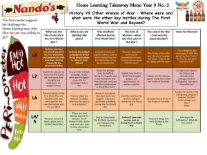 Home Learning Takeaway Menu Year 9 No. 2