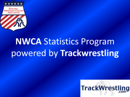 NWCA Statistics Program powered by Trackwrestling