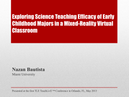 Exploring Science Teaching Efficacy of Early Childhood