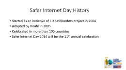Safer Internet Day history