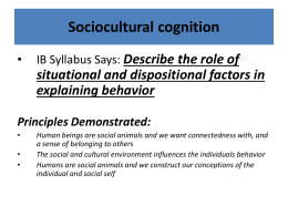 situational & dispositional factors 2012