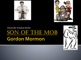 Son of the mob Gordon Kormon