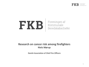 Cancer risk among firefighters