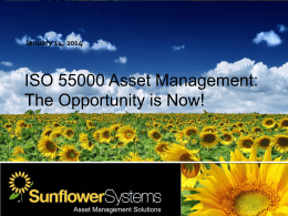 ISO 55000 Asset Management - Federal Center