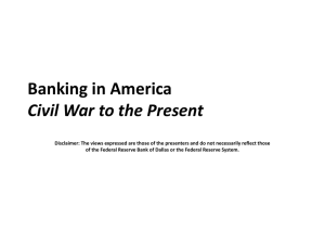 Banking in America: Civil War to the Present