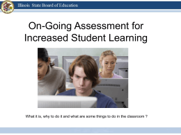 Ongoing Assessment - Illinois State Board of Education