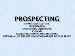 Prospecting Appointment Setting Presentation