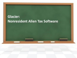 Glacier: Nonresident Alien Tax Software