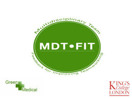 What is MDT-FIT? - NHS Improving Quality
