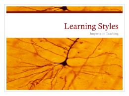Learning Styles - Chabotcollege.edu